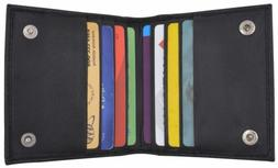 Bifold Credit Card Holder with Snap Button Closure by Marsha
