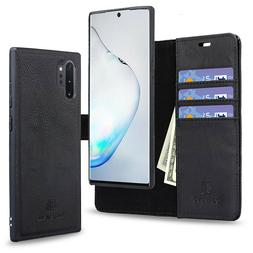 For Galaxy Note10 / 10+ Leather Wallet Case Credit Card Hold