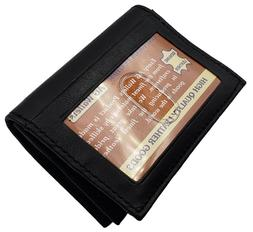 Genuine Leather Expandable Credit Card Outside ID Business C