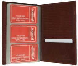 Leather 120 Cards Business Name ID Credit Card Holder Book C