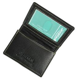 Premium Leather Contrast Stitch Expandable ID Credit card ho