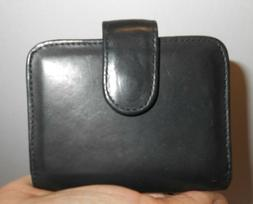 Wilson Smooth soft Black Leather Credit Card Wallet ID Holde