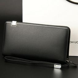 Style Men's Leather Credit ID Card Holder Clutch Checkbook Z