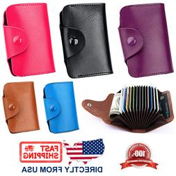 Unisex Genuine Leather Credit Card Business Card Holder Acco
